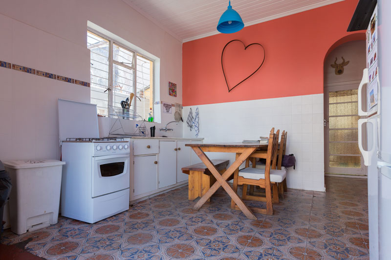 Kitchen in house across the road